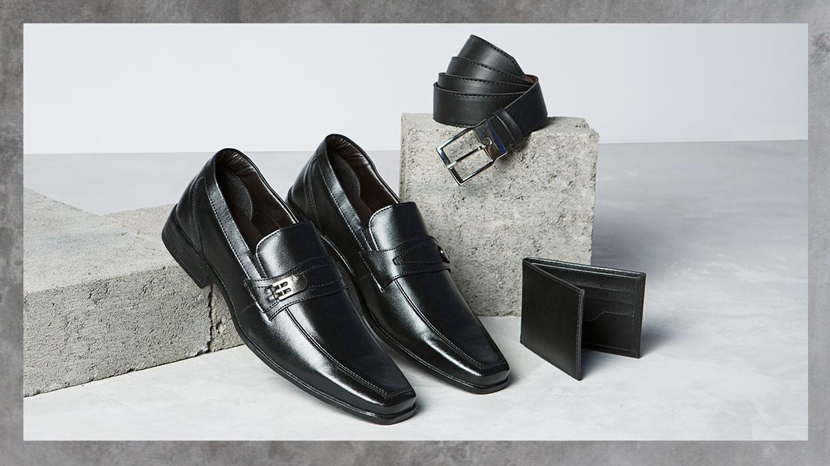 Para os papais sofisticados, que não abrem mão da elegância: kit #GiovannaCalçados! O presente perfeito para agradar ele. | Kit sapato + Carteira + Cinto, por apenas R$ 99,99.