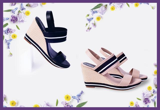 Nós amamos salto anabela! A primavera pede calçados leves, confortáveis, estilosos e descontraídos para o seu dia a dia. Vem que na #GiovannaCalçados tem! | Sandália Anabela R$ 99,99.